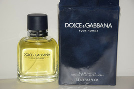 Dolce Gabbana Pour Homme 2.5oz Men's Eau de Toilette Cologne Spray Open ... - $39.92