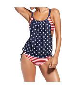 Women Sexy Nylon Bikini Set Stylish Spaghetti Strap Print Tankini Swimsu... - $16.11