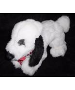 Gund Puppy Dog Black White Plush Stuffed Animal Felt Tongue Red Blow Cur... - $13.83