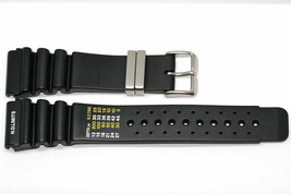 24MM BLACK RUBBER WATCH BAND STRAP FOR AQUALAND PROMASTER DUPLEX ND LIMITS - $16.42 CAD