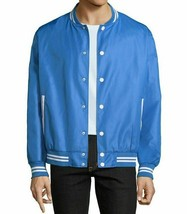 Arizona Varsity Mens Jacket Blue Medium Snap Front White Trim Baseball - $14.88