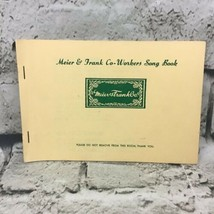 Meier & Frank Co-Workers Song Book Paperback Staple Bound Vintage  - $9.89