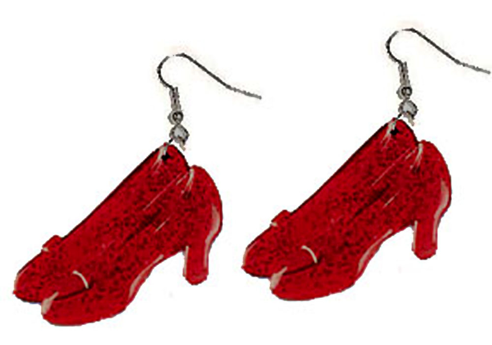 Funky Wizard of Oz Shoes DOROTHY RUBY SLIPPERS EARRINGS-Cosplay Costume Jewelry