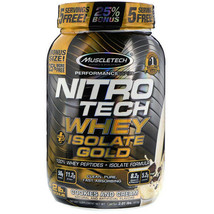MuscleTech Nitro-Tech Whey Plus Isolate Gold, Cookies and Cream, 2lbs - $29.65