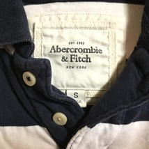 Abercrombie & Fitch Mens Blue White Polo Top - $9.00