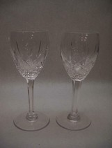 SET of 2 WATERFORD Crystal Marquis COLLECTION GOBLETS Plain Design BASE - $37.12