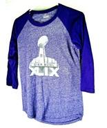 Womens NFL Super Bowl XLIX Medium T Shirt Majestic Purple Embellished - $24.70