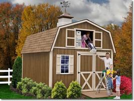 Best Barns Millcreek 12x16 Wood Storage Shed Kit - ALL Pre-Cut - $3,595.00