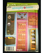 SIMPLICITY HOME DECORATING SEWING PATTERN 5124 SIMPLY TEEN ROOM ORGANIZERS - $5.95