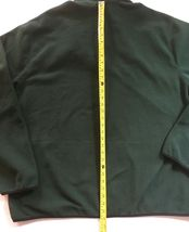 IZOD Full-Zip Polar Fleece Jacket Big & Tall Hunter Green w/ Black Trim 2XLT $70 image 10