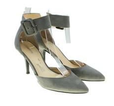 Liz Claiborne Womens Gray Faux Suede Ankle Strap Point Toe Pumps Heels Size 5M - $24.74