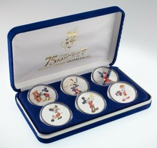 75 Jahre mit Mickey Silber Medaillon Set W/6 .999 Fein Silber Medaillen - $222.45