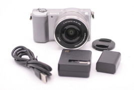 Sony Alpha a5000 20.1MP Digital Camera - Silver (Kit w/ E PZ OSS 16-50mm... - $399.99