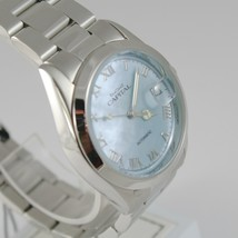 CAPITAL WATCH AUTOMATIC MOVEMENT 35 MM CASE WITH DATE, BLUE MOTHER OF PEARL image 2