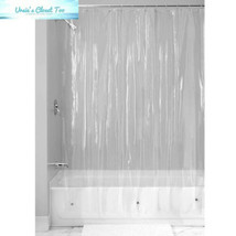 InterDesign Vinyl Plastic Long Shower Bath Liner, Mold and Mildew - $15.82