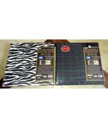 "Lot (2) PIONEER E-Z Load 12"" x 12"" Memory Book Photo Albums (Plaid, Zebr... - $34.20"