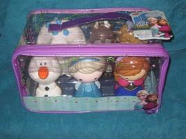 Disney Store Set of 6 Frozen Baths Toy in Carry Case. Elsa, Anna, Olaf, ... - $27.71