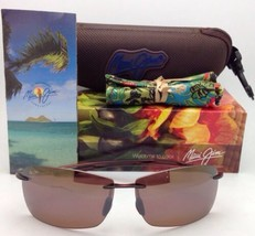 MAUI JIM LIGHTHOUSE Sunglasses MJ 423-26 Rootbeer Frames Bronze Polarize... - $169.21