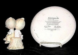 Johnathan and David Figurine and Plate (1982) AB 456R - Pair of 2 Vintage image 2