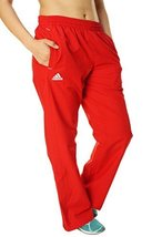 Adidas Women's Team Woven Warm Up Pants (Large, University Red) - $21.50