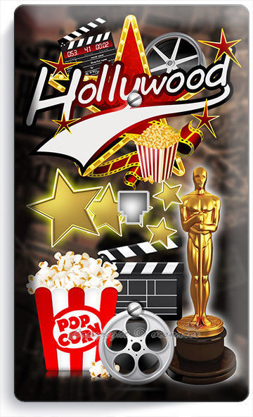 HOLLYWOOD TV ROOM MOVIE STAR THEATER PHONE TELEPHONE WALL PLATE COVER HOME DECOR