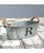 Galvanized Monogram Bucket R    - $13.65