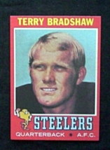 1971 Topps Football #156 Terry Bradshaw [Pittsburgh Steelers] Rookie Reprint - $3.75