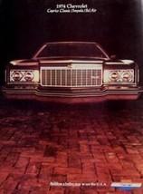 1974 Chevrolet Brochure, Caprice Classic Impala Bel Air - $4.85