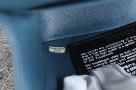 AUTHENTIC CHANEL TURQUOISE BLUE LAMBSKIN MEDIUM DOUBLE FLAP BAG GOLD HW RARE image 9