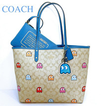 COACH PACMAN Tote Bag, Wristlet Pouch & Inky Keychain Bag Charm NWT - $265.32