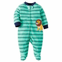 Newborn Babies Warm Fleece Fabric Jumpsuits Sleepwear Full Length Zipper... - $18.02