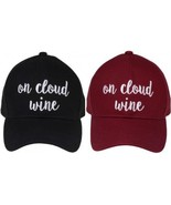 """""""ON CLOUD WINE"""" - CC Embroidered Adjustable Ball Cap Hat - OS Fits Most - $15.99"""