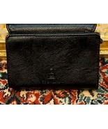 SAFE KEEPER BLACK PEBBLED WALLET ORGANIZER WINDOW ID CC SLOTS TRI-FOLD ... - $8.96