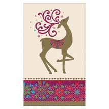 4.5 in. x 7.75 in. Christmas Whimsical Winter Deer Guest Towels (36-Count) - £12.05 GBP