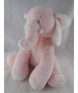 BABY GANZ Light Pink Musical Plush Stuffed ELEPHANT Moves Head Brahm's L... - $14.54