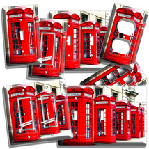 Red Telephone Box London Uk Street Light Switch Wall Plate Outlet Room Art Decor - $9.89+