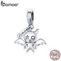 BAMOER 100% 925 Sterling Silver Koakuma Little Evil Devil Beads Charms Fit Charm - $26.20