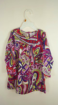 Hanna Andersson Girls Toddler Retro geometric Print Cotton Dress Sz 90 3T - $9.89