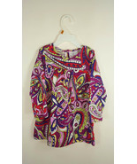 Hanna Andersson Girls Toddler Retro geometric Print Cotton Dress Sz 90 3T - $9.89