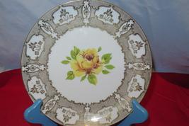 Wiuterling Schuarzenbach Bavaria Yellow Rose Plate - $20.00