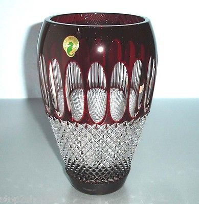 Waterford Colleen Ruby Red Crystal Vase 8 And 38 Similar Items