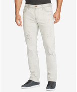 NEW MENS WILLIAM RAST WHITE SLIM STRAIGHT FIT DEAN RIPPED JEANS 31 x 30 - $39.59