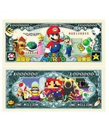 Pack of 50 - Super Mario Brothers Nintendo Classic Novelty 1 Million Dol... - $14.80