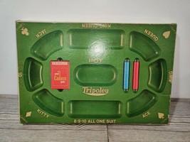 Vintage 1968 Cadaco Tripoley Board Game Special Edition No. 300 Michigan Rummy - $19.49
