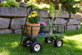 Gorilla Carts GOR400-COM Steel Garden Cart Removable Sides 400 Pounds Green - $1.591,14 MXN