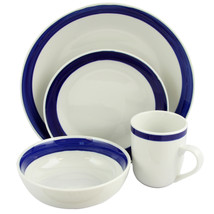 Gibson Basic Living III 16-Piece Dinnerware Set-Blue - $69.10