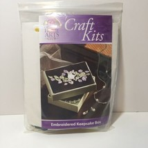Ribbon Embroidered Keepsake Box Craft Kit Creative Home Arts Club - $9.74