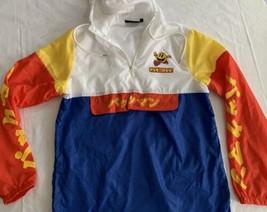 PAC-MAN Japanese Writing Windbreaker Hoodie Jacket Pullover M Exc Cond - $37.76