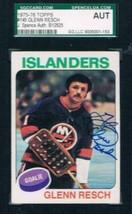 1975-76 Topps #145 Glenn Resch NY Islanders JSA Auto - $19.75
