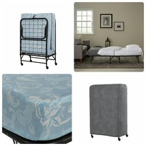 Deluxe Folding Bed Roll Away Guest Portable Sleeper Metal Foldaway Mattr... - $132.94